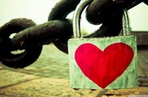 Hjärta på lås
