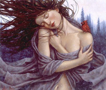 Kvinna som blundar