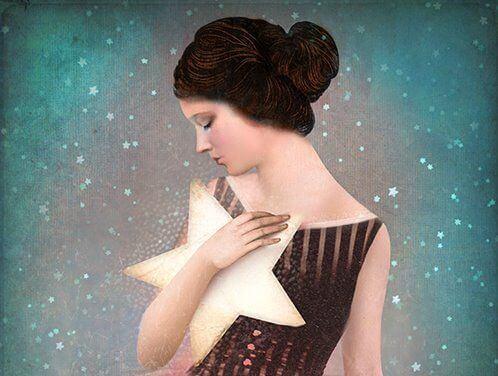 Kvinna med stjärna