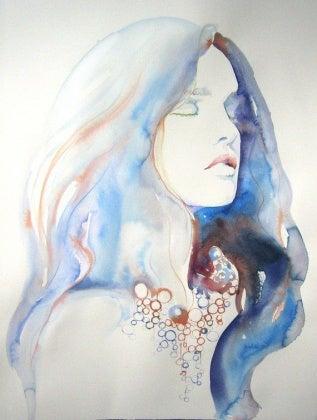 Vattenfärgsporträtt
