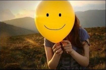 Glad ballong