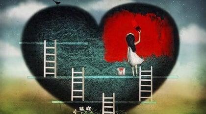 Hjärta med stegar