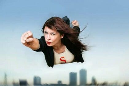 Kvinna som flyger