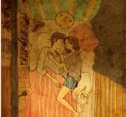 Sover tillsammans