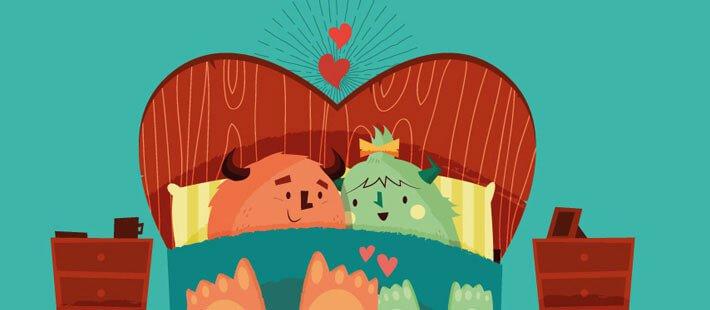 Par i säng