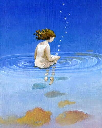 Flicka i vatten