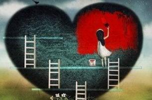 Målar hjärta