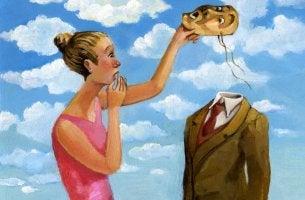 Kvinna och mask