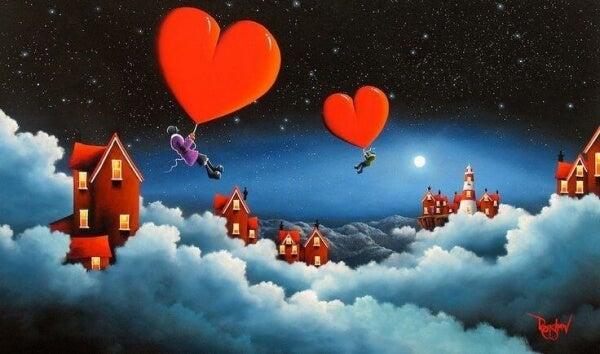 Flygande hjärtan