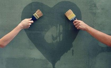Målat hjärta
