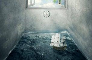 Båt i rum