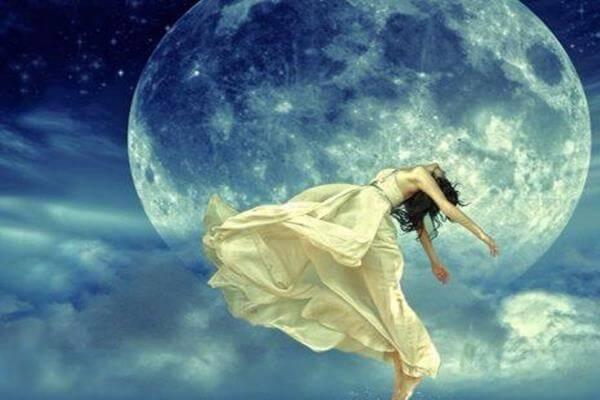 Nattuggla och månen