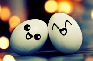 Glada ägg
