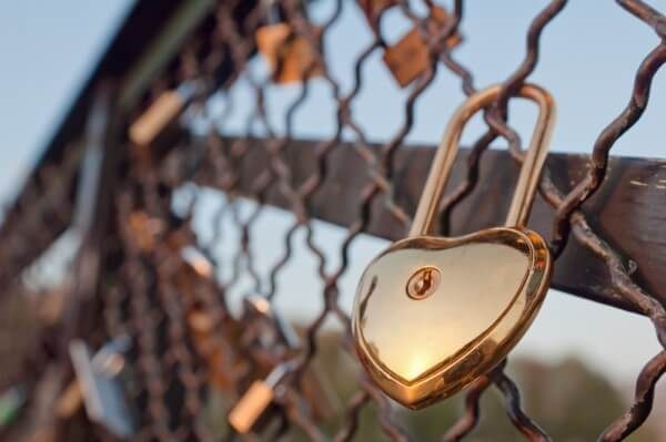 Hjärtformat lås