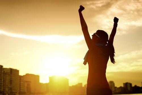 Kvinna med motivation
