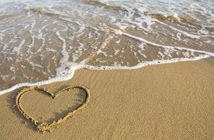 Passion på stranden