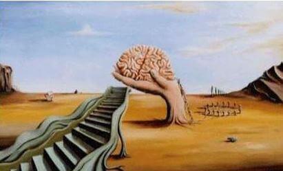 Hjärna vid trappa