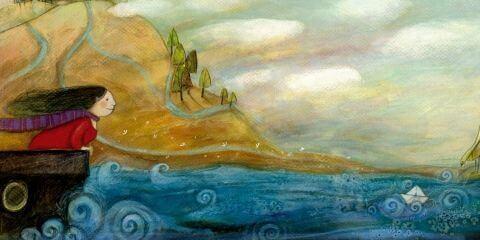 Kvinna i båt