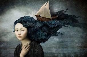Båt i hår