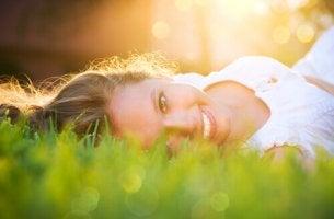 Lycklig kvinna