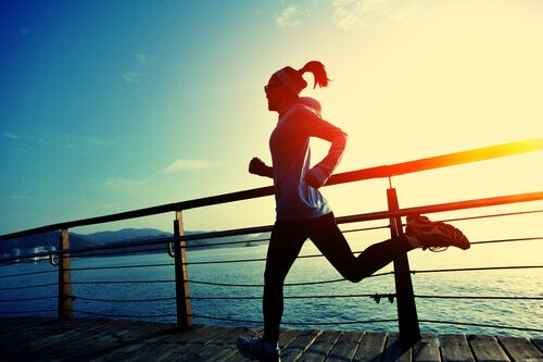 Löpning vid havet