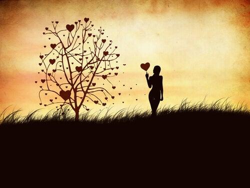 Träd med hjärtan