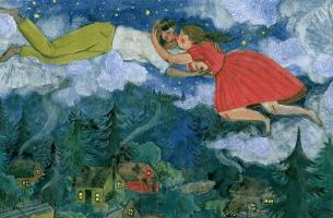 Par över skog