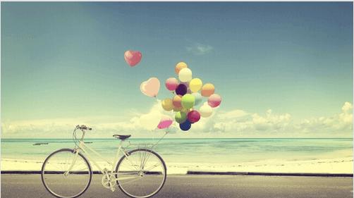 Cykel med ballonger