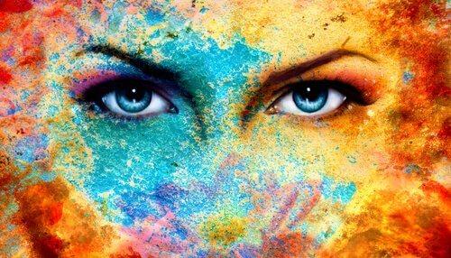 Färgglatt ansikte