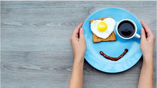 Leende frukost