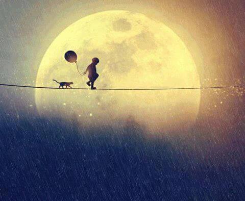 Pojke och månen