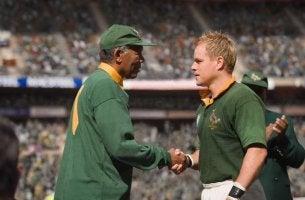 Nelson Mandela och François Pienaar