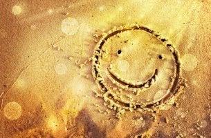 Leende i sanden