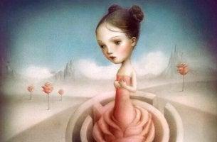 Flicka med labyrint