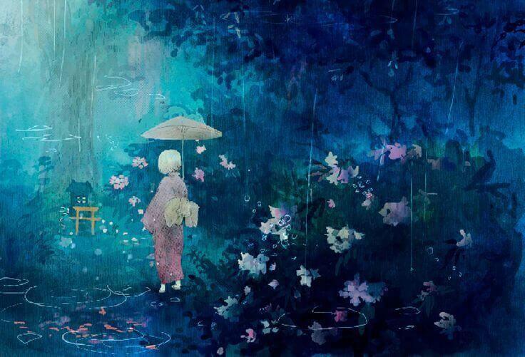Geisha i regn