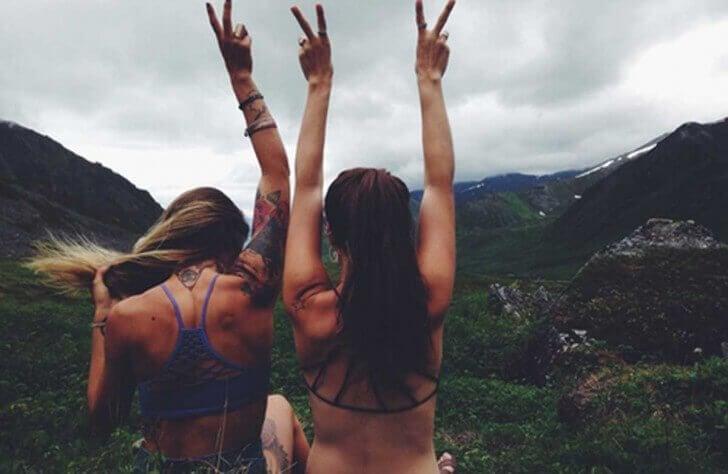 Kvinnor i bergen