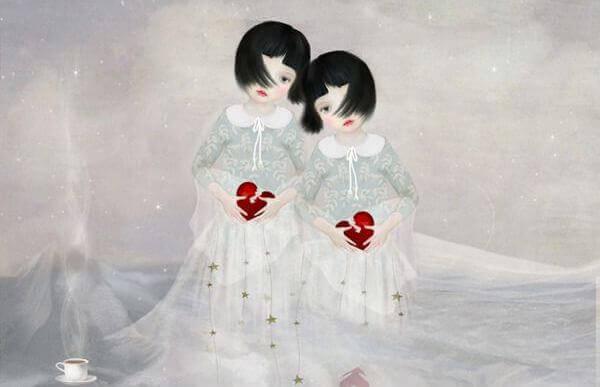 Tvillingflickor