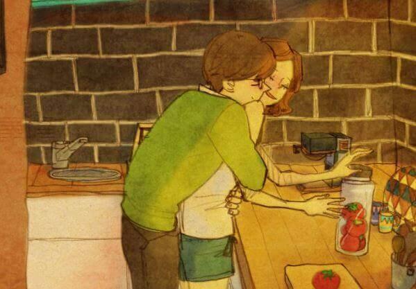 En kram är en dikt av kärlek som är skriven i huden