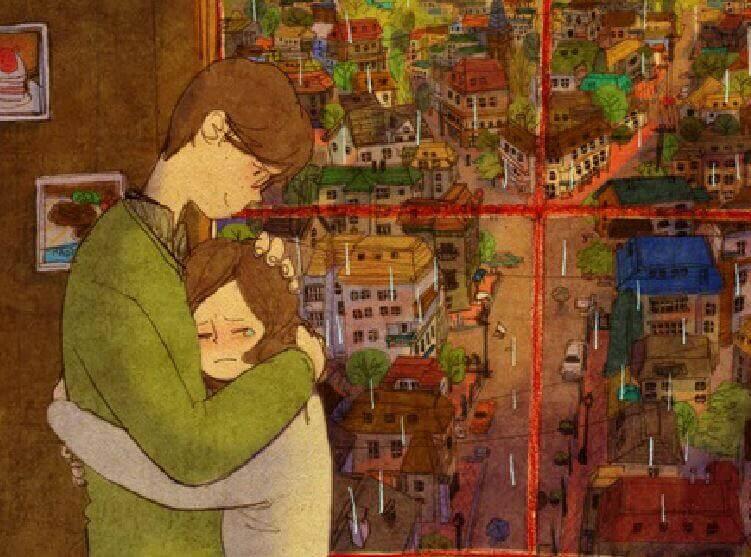 En dag kommer du få en kram så varm att alla dina sår läks