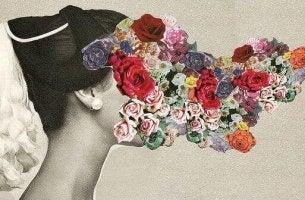 Blommor på ansiktet