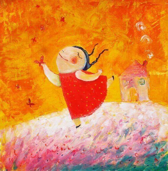 Dansande flicka