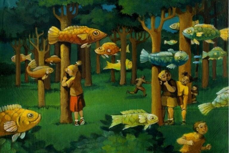 Fiskar i skogen