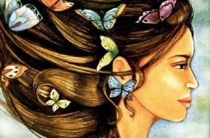 Fjärilar i hår