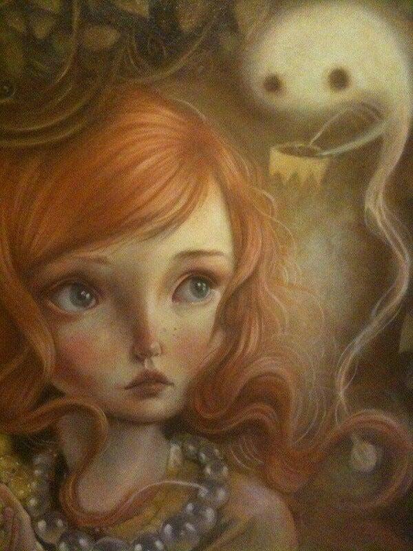 Flicka med spöke