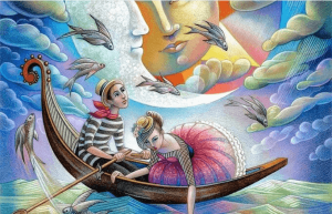 Par i båt