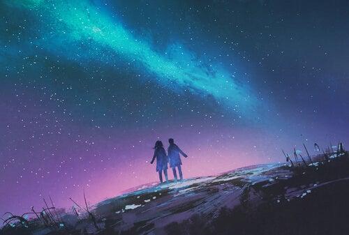 Par under stjärnhimmel