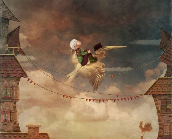 Rider på fågel