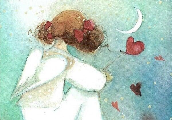 Ängel med hjärtan
