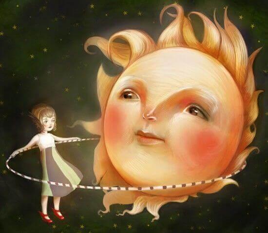 Flicka och solen