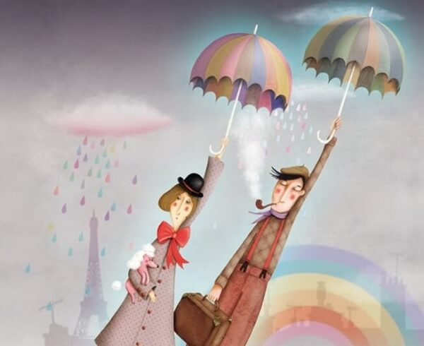 Flyga med paraplyer